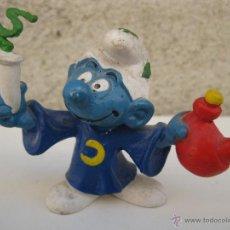 Figuras de Goma y PVC: PITUFO MAGO CON PÓCIMA - FIGURA DE PVC - PEYO - SCHLEICH - AÑO 1980.. Lote 44969094