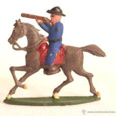 Figuras de Goma y PVC: CAPELL CABALLO Y JINETE AZUL DISPARANDO. Lote 45095464