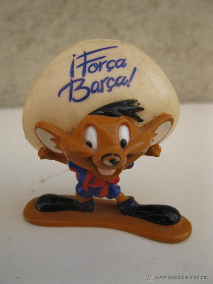 SPEEDY GONZÁLEZ - HINCHA DEL F.C. BARCELONA - FIGURA DE PVC - WARNER BROS. - STAR TOYS. (Juguetes - Figuras de Goma y Pvc - Otras)