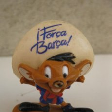 Figuras de Goma y PVC: SPEEDY GONZÁLEZ - HINCHA DEL F.C. BARCELONA - FIGURA DE PVC - WARNER BROS. - STAR TOYS.. Lote 136564992