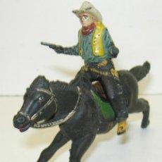 Figuras de Goma y PVC: FIGURA GOMA VAQUERO,COWBOY A CABALLO REAMSA. Lote 45335392