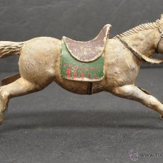 Figuras de Goma y PVC: FIGURA GOMA CABALLO COWBOY VAQUERO ,DE REAMSA. Lote 45335577