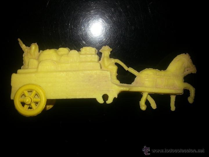 CARAVANA DEL OESTE DE MONTAPLEX AÑOS 70 (Juguetes - Figuras de Goma y Pvc - Montaplex)