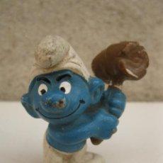 Figuras de Goma y PVC: PITUFO CON MAZO - FIGURA DE PVC.. Lote 45422488