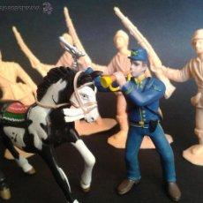 Figuras de Goma y PVC: LOTE DE 6 FIGURAS DE DAVY CROCKETT, EL HÉROE DEL ÁLAMO DE COMANSI. Lote 45425828