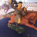 Figuras de Goma y PVC: ELASTOLIN HUNO A CABALLO CON ESPADA SERIE 7 CTMS. Lote 45513371