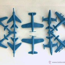 Figuras de Goma y PVC: SERJAN - LOTE DE10 AVIONES - SERJANBOYS - MONTAPLEX - COLOR AZUL. Lote 54406855