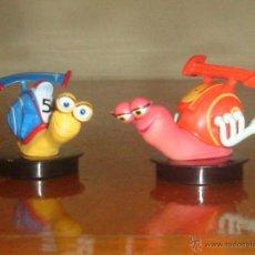 Figuras de Goma y PVC: TURBO Y BURN, CARACOLES DE LA PELÍCULA TURBO. DREAMWORKS, 2013. Lote 45552263