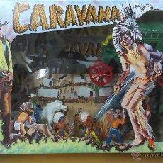 Figuras de Goma y PVC: CARAVANA DEL OESTE ( DILIGENCIA ) CAJA ORIGINAL .NO JUGADO. Lote 45580006