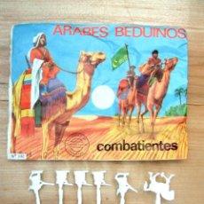 Figuras de Goma y PVC: MONTAPLEX SOBRE Nª 102 ÁRABES BEDUINOS VACIO + 1 COLADA DE SOLDADOS ÁRABES EN COLOR BLANCO. Lote 118482991