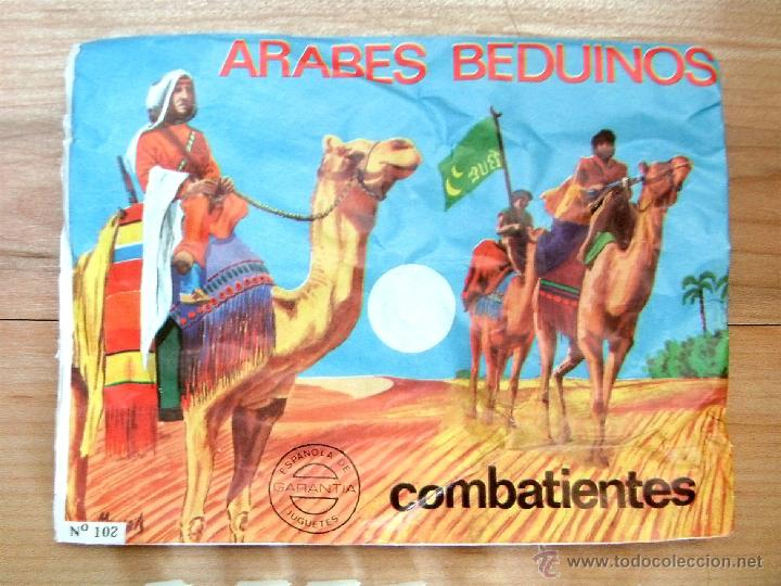 Figuras de Goma y PVC: MONTAPLEX SOBRE Nª 102 ÁRABES BEDUINOS VACIO + 1 COLADA DE SOLDADOS ÁRABES EN COLOR BLANCO - Foto 3 - 215673158