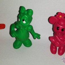 Figuras de Borracha e PVC: 4 FIGURAS DIFERENTES DE DISNEY ORIGINALES AÑOS 83 Y 84 BULLY, MINNIE, MICKEY, DONALD Y DAISY. Lote 45692657