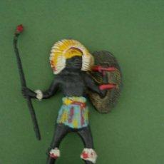 Figuras de Borracha e PVC: FIGURA GUERRERO AFRICANOS AÑOS 60. Lote 45744069