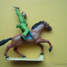 Figuras de Goma y PVC: FIGURAS JINETE INDIO Y CABALLO AÑOS 50. Lote 45777101