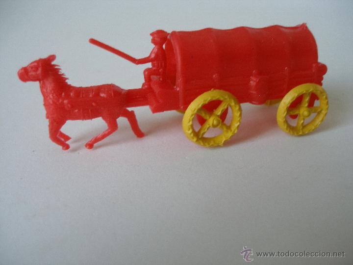 Figuras de Goma y PVC: Carreta del Oeste Montaplex , kiosko años 70 - Foto 2 - 38826407