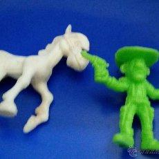 Figuras de Goma y PVC: LOTE 2 FIGURAS DUNKIN LUCKY LUKE - HERMANO DALTON Y CABALLO (DUNKIN PHOSKITOS). Lote 46120941