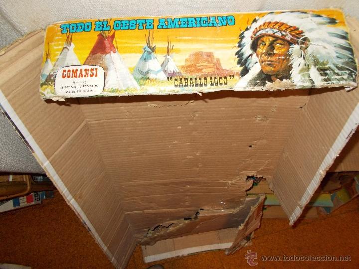 Figuras de Goma y PVC: COMANSI: TODO EL OESTE AMERICANO. REF. 222 CAJA GRANDE TODO MADERA AÑOS 60 FUERTE FORT FEDERAL. PTOY - Foto 8 - 46162854