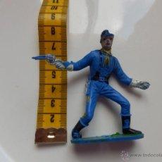 Figuras de Goma y PVC: FIGURA YANKEE OESTE ORIGINAL AÑOS 60 / 70 CONFEDERADO UNIONISTA COMANSI. Lote 46253612