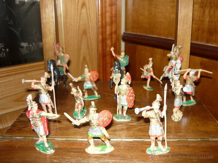 LOTE DE 16 FIGURAS EN GOMA DE REAMSA LEGIONES ROMANAS ROMANOS, AÑOS 50 60 GOMARSA (Juguetes - Figuras de Goma y Pvc - Reamsa y Gomarsa)