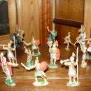 Figuras de Goma y PVC: LOTE DE 16 FIGURAS EN GOMA DE REAMSA LEGIONES ROMANAS ROMANOS, AÑOS 50 60 GOMARSA. Lote 46302706