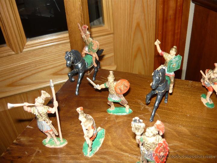 Figuras de Goma y PVC: LOTE DE 16 Figuras en goma de Reamsa Legiones Romanas Romanos, Años 50 60 GOMARSA - Foto 2 - 46302706