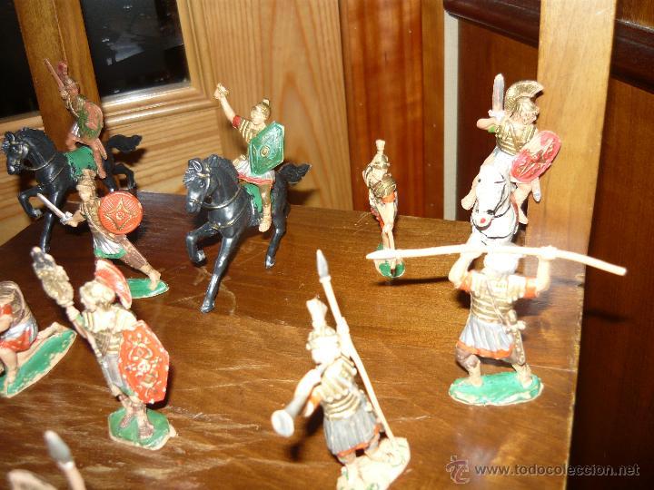 Figuras de Goma y PVC: LOTE DE 16 Figuras en goma de Reamsa Legiones Romanas Romanos, Años 50 60 GOMARSA - Foto 3 - 46302706