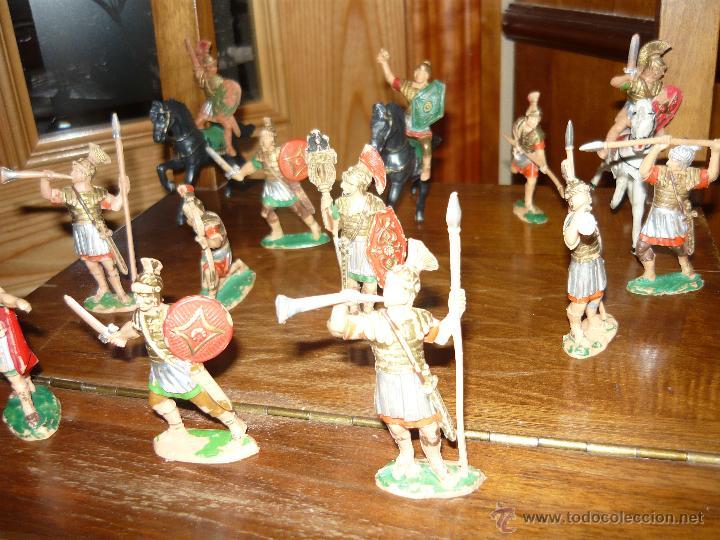 Figuras de Goma y PVC: LOTE DE 16 Figuras en goma de Reamsa Legiones Romanas Romanos, Años 50 60 GOMARSA - Foto 4 - 46302706