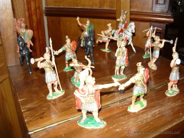 Figuras de Goma y PVC: LOTE DE 16 Figuras en goma de Reamsa Legiones Romanas Romanos, Años 50 60 GOMARSA - Foto 5 - 46302706