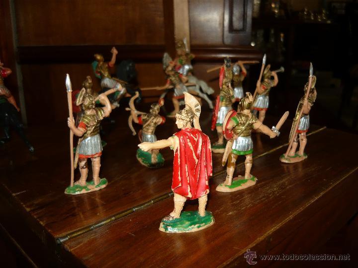 Figuras de Goma y PVC: LOTE DE 16 Figuras en goma de Reamsa Legiones Romanas Romanos, Años 50 60 GOMARSA - Foto 7 - 46302706