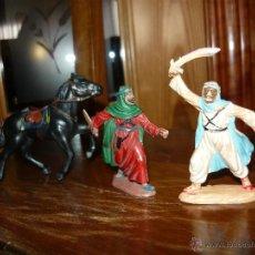 Figuras de Goma y PVC: LOTE FIGURAS GOMA CABALLO Y GUERREROS MOROS REAMSA GOMARSA AÑOS 60 B.E.. Lote 46354108