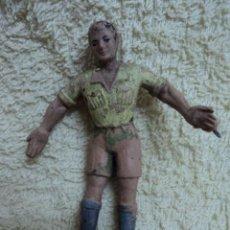 Figuras de Borracha e PVC: FIGURA ANTIGUA ARCLA PRIMER SAFARI ESPAÑOL NEGRITO DEL ALAMBRE ORIGINAL CAZADOR EXPLORADOR EN GOMA. Lote 46389730