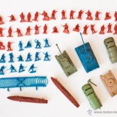 Figuras de Goma y PVC: LOTE FIGURAS, TANQUES Y BARCOS MONTAPLEX. Lote 46391190