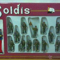 Figuras de Goma y PVC: CAJA DE SOLDADOS .INFANTERIA ESPAÑOLA ( MARCA SOLDIS ). Lote 46503211