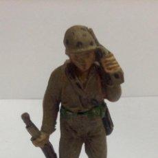 Figuras de Goma y PVC: ANTIGUA FIGURA EN GOMA SOLDADO AMERICANO DE JECSAN HABLANDO. Lote 46536297