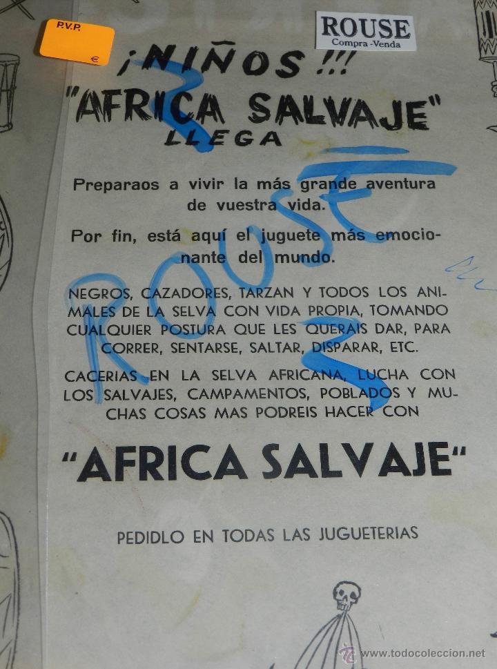 Figuras de Goma y PVC: (M) ANTIGUO CARTEL ARCLA PUBLICITARIO AFRICA SALVAJE !! TARZAN , NEGROS CAZADORES. VER REVERSO - Foto 2 - 46544719