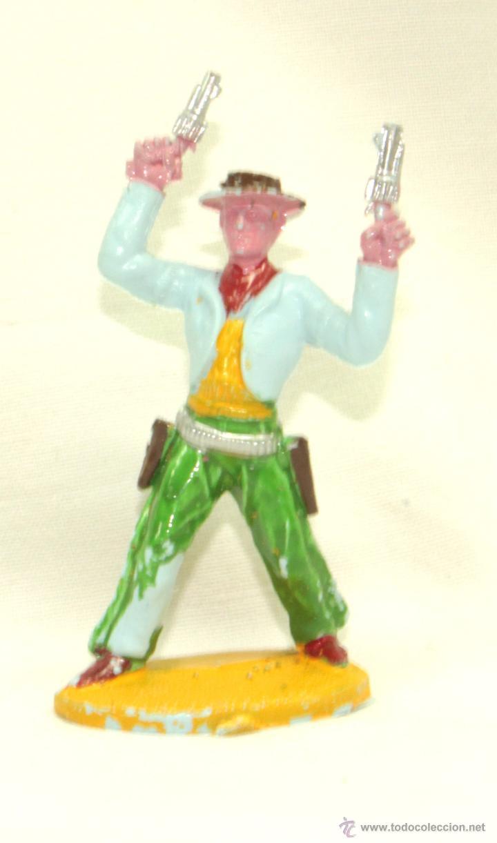 SOTORRES, VAQUERO EN PIE CON DOS PISTOLAS (Juguetes - Figuras de Goma y Pvc - Sotorres)
