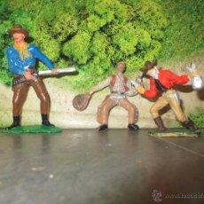 Figuras de Goma y PVC: LOTE FIGURA PLASTICO VAQUERO VARIOS. Lote 46613390