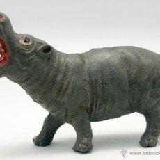 Figuras de Goma y PVC: HIPOPÓTAMO TEIXIDÓ SERIE MORCILLÓN Y BABALI GOMA AÑOS 50. Lote 46645350