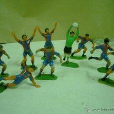 Figuras de Goma y PVC: LOTE DE NUEVE JUGADORES DE F.C. BARCELONA JECSAN. Lote 46647347
