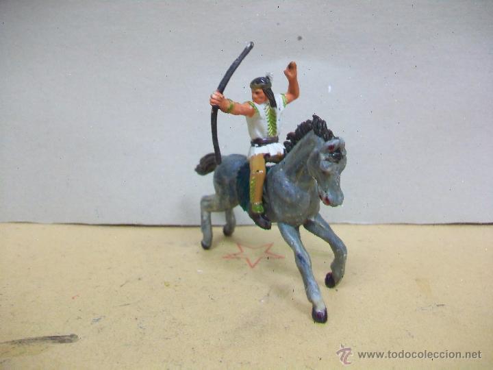 FIGURA INDIO STARLUX A CABALLO JECSAN - CABALLO DE JECSAN CON INDIO STARLUX (Juguetes - Figuras de Goma y Pvc - Starlux)