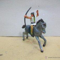 Figuras de Goma y PVC: FIGURA INDIO STARLUX A CABALLO JECSAN - CABALLO DE JECSAN CON INDIO STARLUX. Lote 46655800