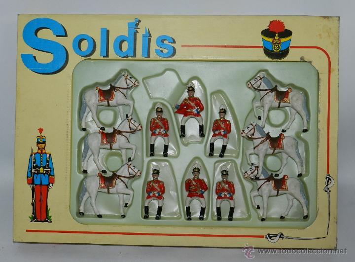 CAJA DE SOLDADOS, GUARDIA MUNICIPAL A CABALLO ( MARCA SOLDIS, GOMARSA ) PLASTICO- REALIZADOS EN PLAS (Juguetes - Figuras de Goma y Pvc - Reamsa y Gomarsa)