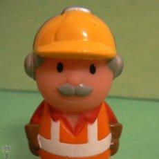 Figuras de Goma y PVC: FIGURA PVC OPERARIO DE LA CONSTRUCCION CON CASCO MED,7,50X 3 CTM. Lote 46711816