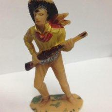 Figuras de Goma y PVC: FIGURA EN PVC 60 MM DE JECSAN VAQUERO CON FUSIL. Lote 46814611