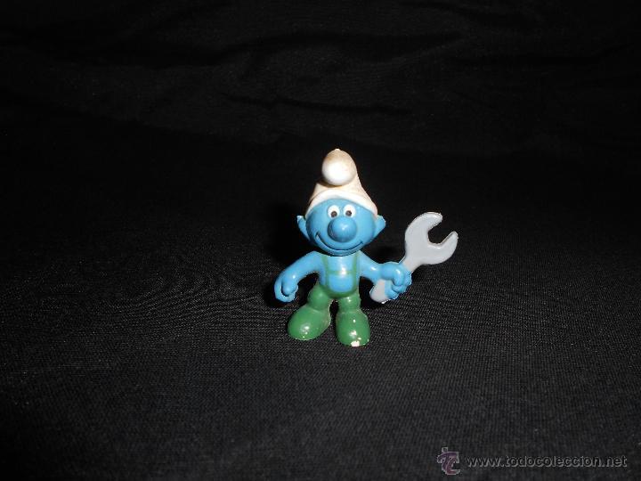 ANTIGUO PITUFO MECÁNICO EN PVC, PEYO SCHELICH (Juguetes - Figuras de Goma y Pvc - Otras)