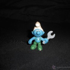 Figuras de Goma y PVC: ANTIGUO PITUFO MECÁNICO EN PVC, PEYO SCHELICH. Lote 46937197