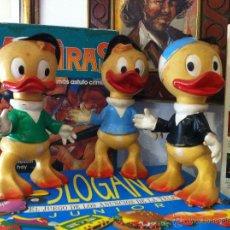 Figuras de Goma y PVC: 3 MUÑECOS UNICOS WALT DISNEY PRODUCTIONS 1962 !! - JUANITO, JORGITO Y JAIMITO - HUEY, DEWEY Y LOUIE-. Lote 47026709
