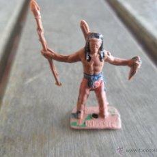 Figuras de Borracha e PVC: FIGURA DE SOLDADO O INDIO EN PLASTICO MINI OESTE MINIOESTE DE COMANSI. Lote 47181095