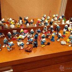 Figuras de Goma y PVC: PITUFOS SCHLEICH , PEYO, LOTE DE 39 FIGURAS MÁS ACCESORIOS. Lote 47203159
