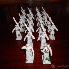 Figuras de Goma y PVC: CUERPO DE ESQUIADORES TROPA DE MONTAÑA DIORAMA REAMSA GOMARSA 20 FIGURAS COMPLETO DIFICIL. Lote 47223209